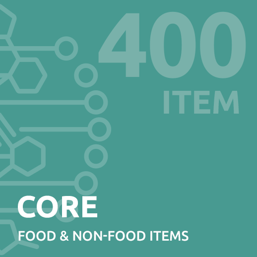 core intolerance test up to 400 items